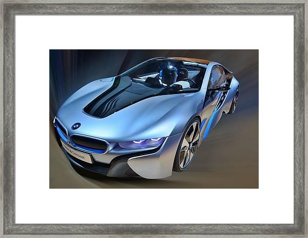 B M W  I8  Concept  2014 Framed Print