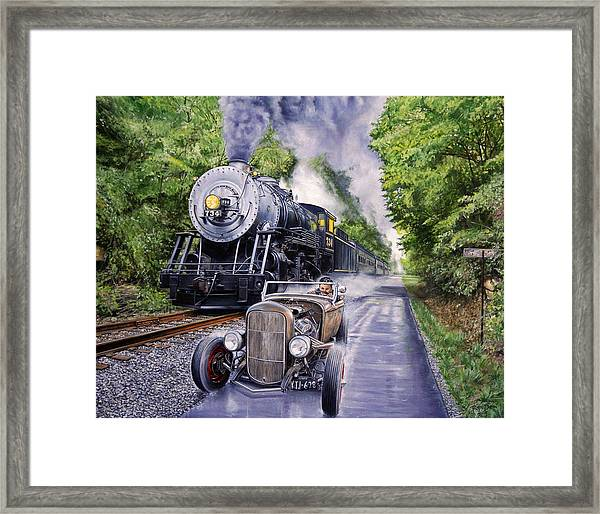 Backwoods Duel Framed Print by Ruben Duran