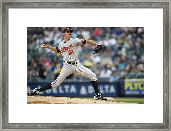 Baltimore Orioles V. New York Yankees Framed Print