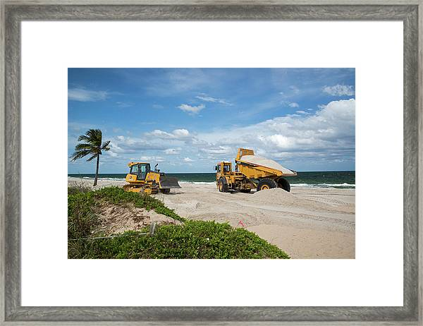 Beach Restoration Project Framed Print
