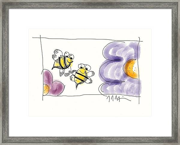2 Bee Or Not To Bee Framed Print