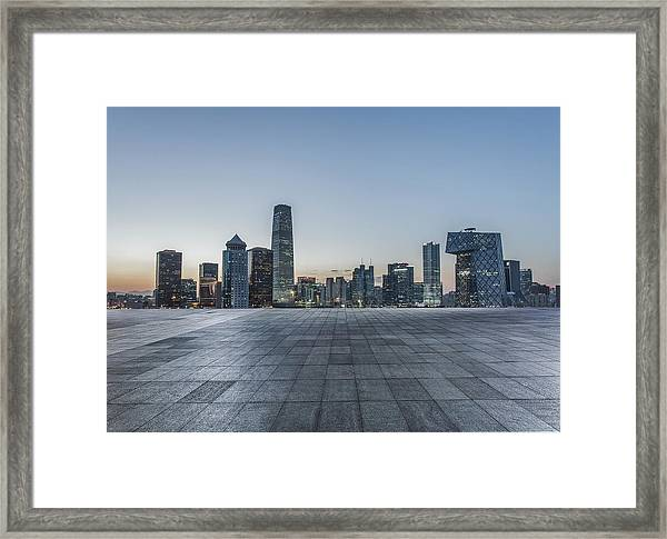 Beijing City Square Framed Print by DuKai photographer