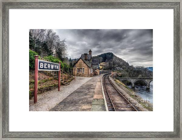 Berwyn Railway Station Framed Print