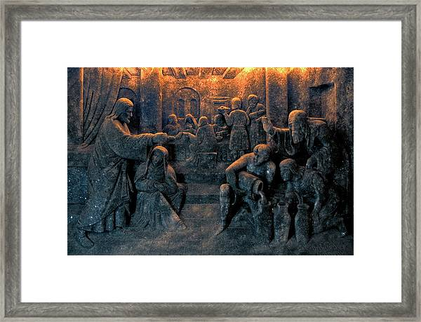 Biblical Scene Framed Print
