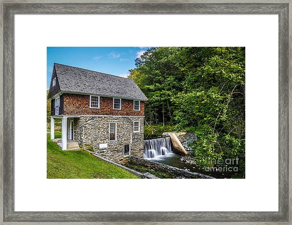 Blow Me Down Mill Cornish New Hampshire Framed Print