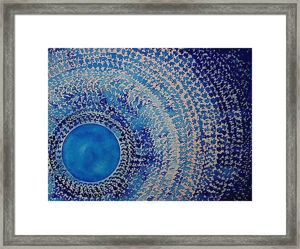 Blue Kachina Original Painting Framed Print