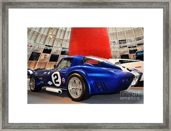 Framed Print featuring the photograph 2 Blue by Mel Steinhauer