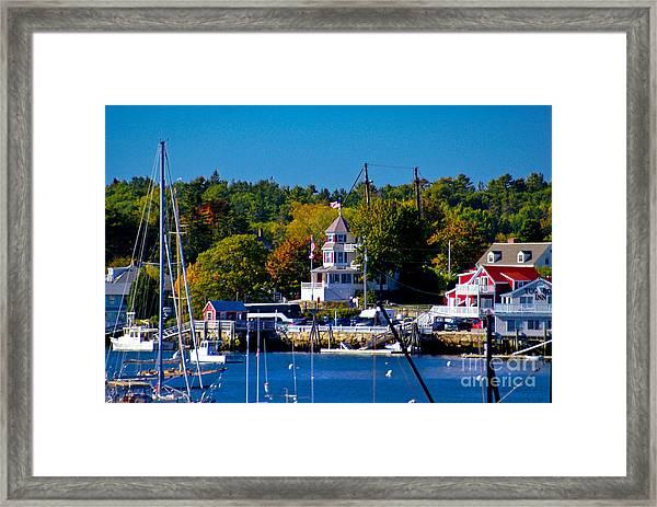 Boothbay Harbor Maine. Framed Print