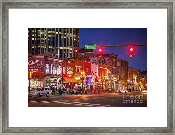 Broadway Street Nashville Framed Print