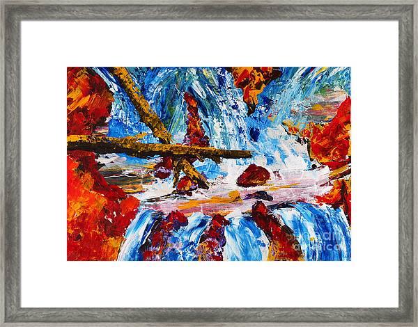 Burch Creek Run-off Framed Print