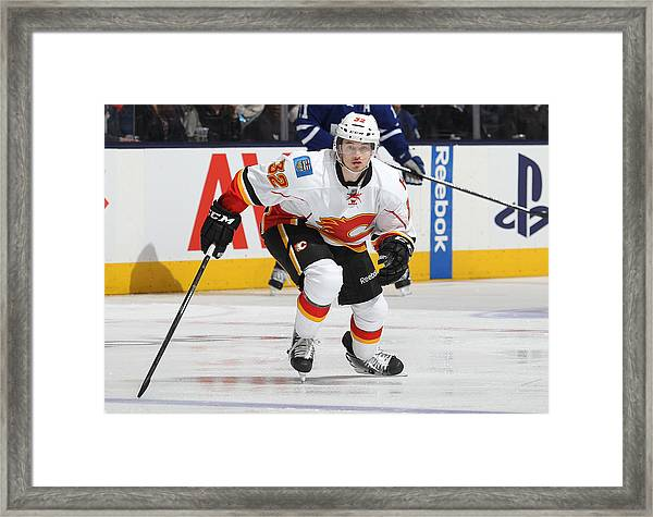 Calgary Flames V Toronto Maple Leafs Framed Print by Claus Andersen