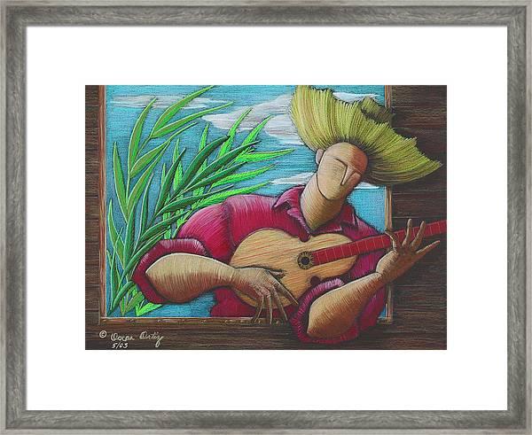 Framed Print featuring the painting Cancion Para Mi Tierra by Oscar Ortiz