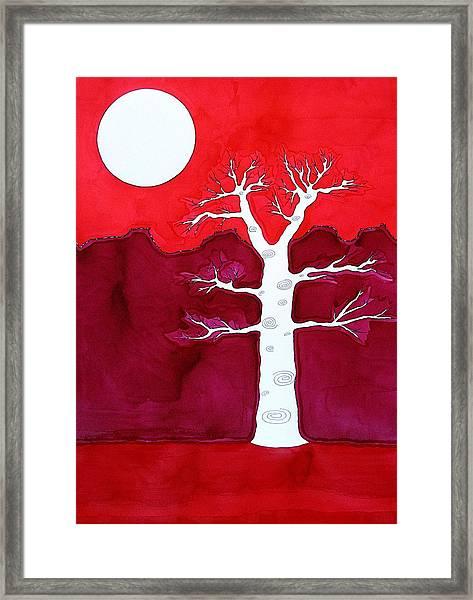 Canyon Tree Original Painting Framed Print