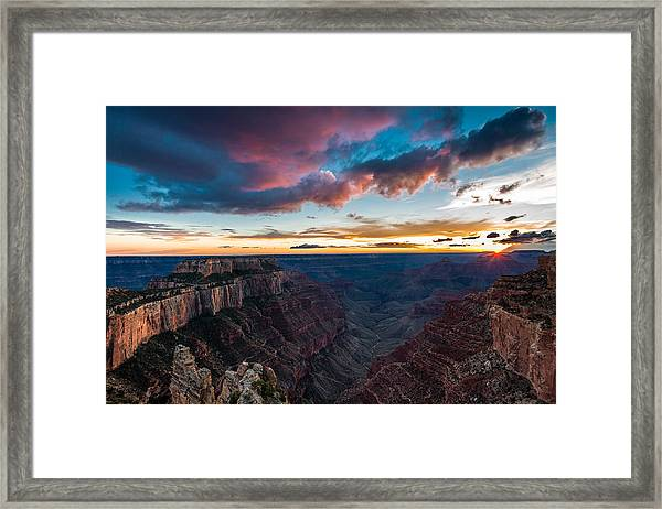 Cape Royal Sunset Framed Print