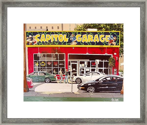 Capitol Garage Framed Print by Paul Guyer