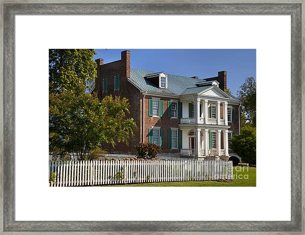 Framed Print featuring the photograph Carnton Plantation by Brian Jannsen