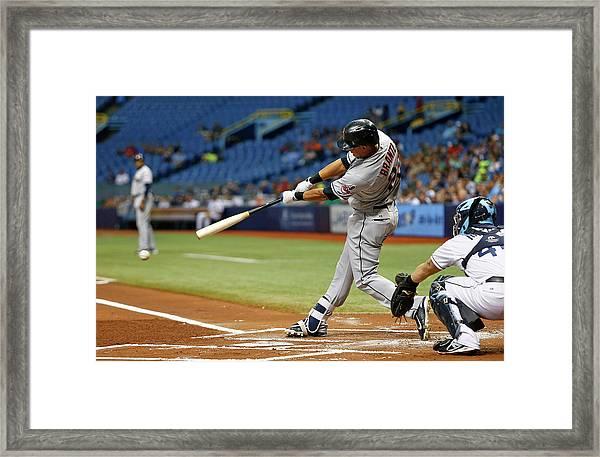 Cleveland Indians V Tampa Bay Rays Framed Print