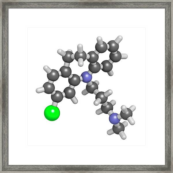 Clomipramine Tricyclic Antidepressant Framed Print by Molekuul