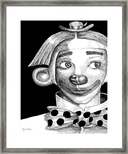 Clown Of Joy Framed Print