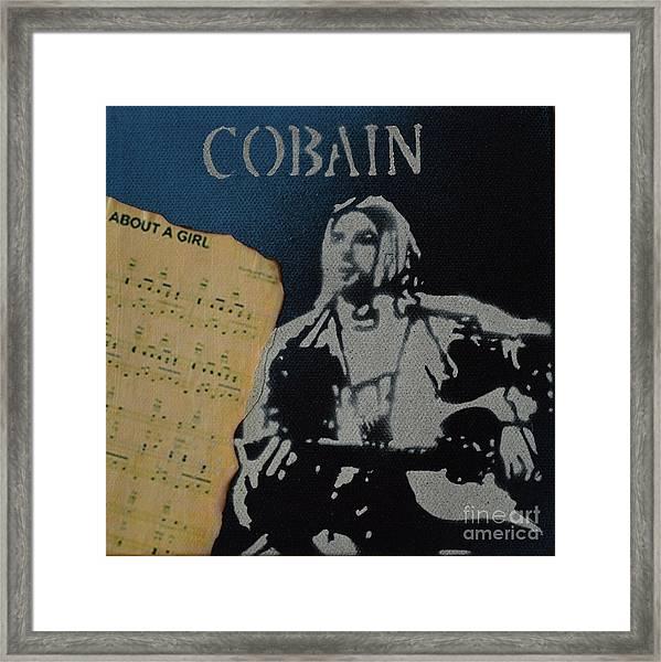 Cobain Spray Art Framed Print