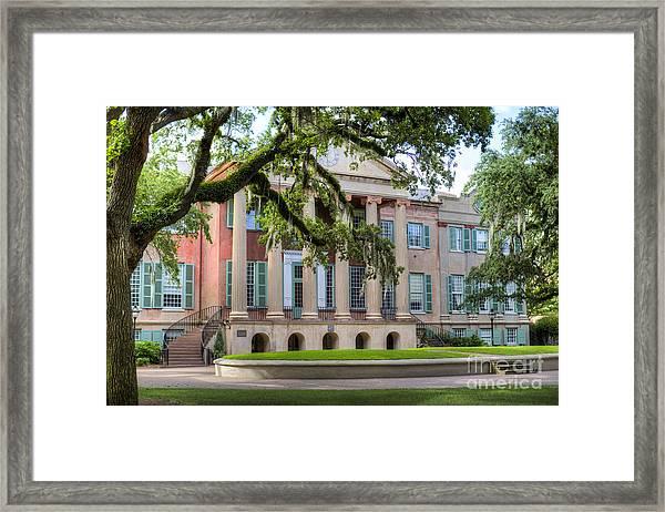 College Of Charleston Randolph Hall Framed Print