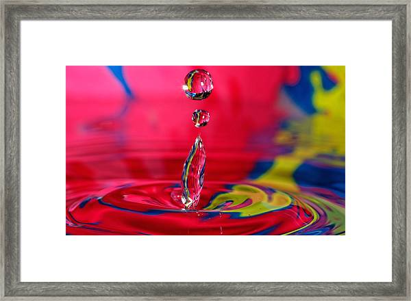 Colorful Water Drop Framed Print