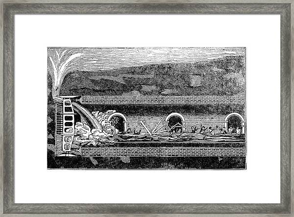 Construction Of Thames Tunnel Framed Print