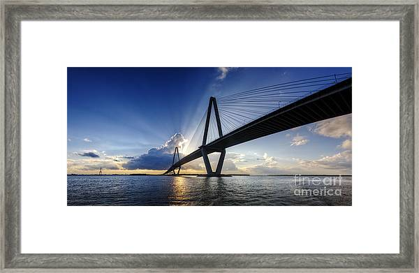 Cooper River Bridge Charleston Sc Framed Print