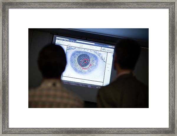 Corneal Topography Demonstration Framed Print by Dan Dunkley