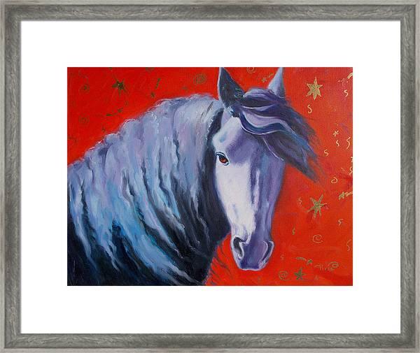 Cosmic Horse Framed Print by Pixie Glore
