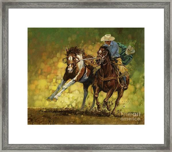 Rodeo Pickup Framed Print