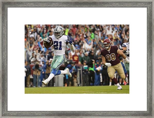 Dallas Cowboys V Washington Redskins Framed Print by Patrick Smith