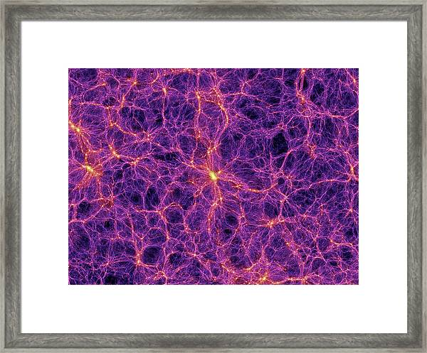 Dark Matter Distribution Framed Print by Volker Springelmax Planck Institute For Astrophysics
