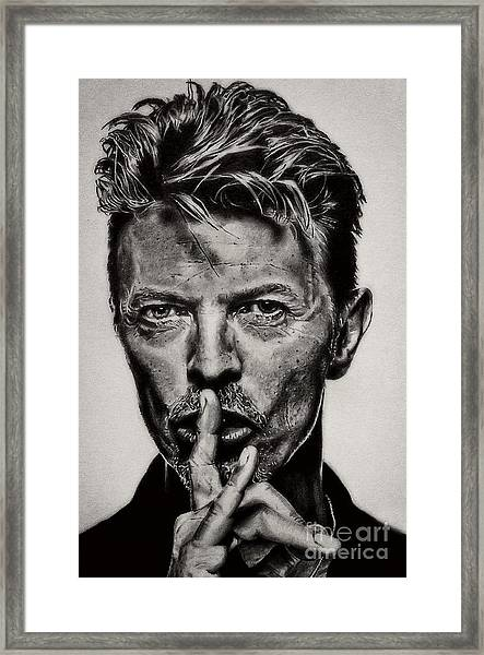 David Bowie - Pencil Abstract Framed Print