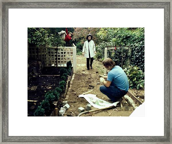 Deeda And William Blair At Home Framed Print