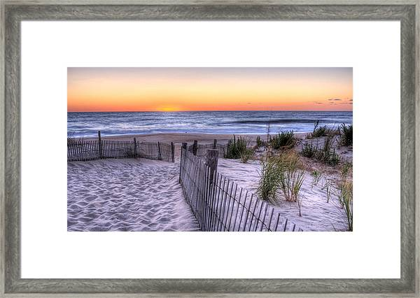 Dewey Beach Sunrise Framed Print