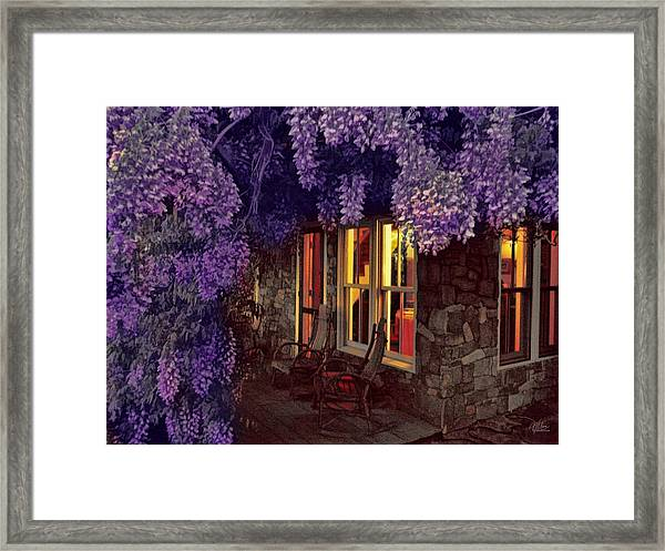 Beneath The Wisteria Framed Print