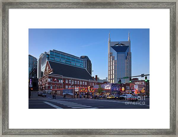 Framed Print featuring the photograph Downtown Nashville by Brian Jannsen