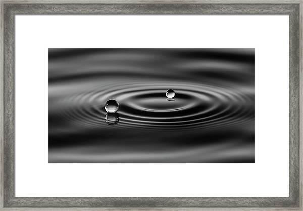 2 Drops Framed Print