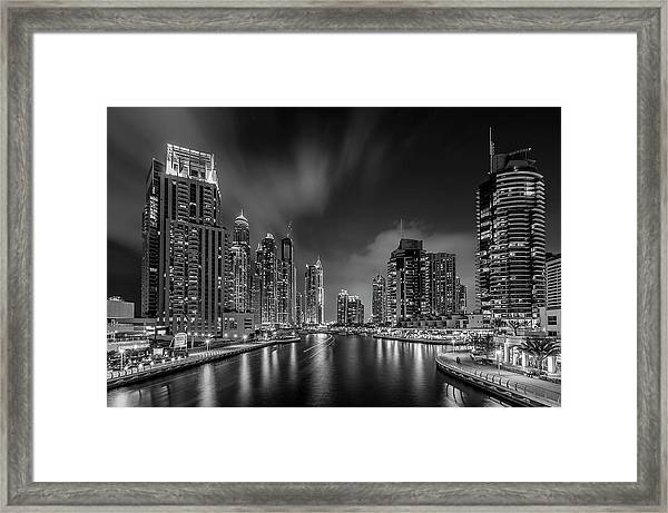 Dubai Marina Framed Print