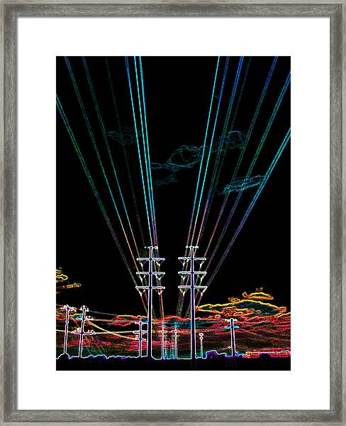 Electric Night Framed Print