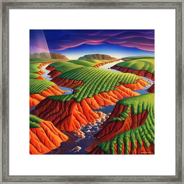 Erosion Framed Print
