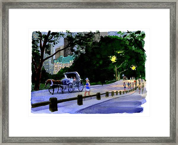Evening Run Framed Print