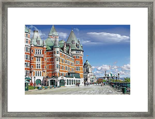 Fairmont Le Chateau Frontenac Series 01 Framed Print