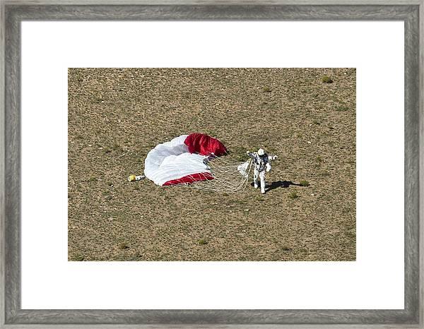 Felix Baumgartner After Freefall Framed Print