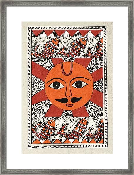 Festive Sun Framed Print by Neha Dasgupta