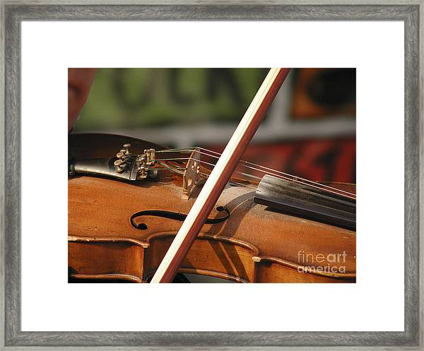 Fiddle Time Framed Print