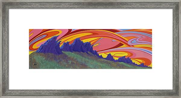 Fire Sky Over Devil's Backbone Framed Print