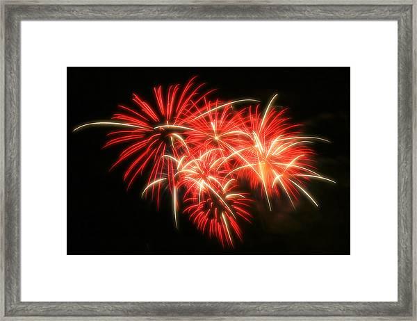 Fireworks Over Kauffman Stadium Framed Print