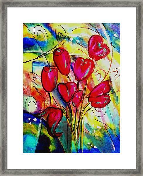 Flowers For M Framed Print